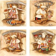 Chefs at Work - Drink Coaster Sets by CoasterStone