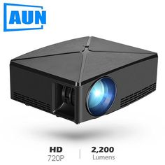 Best price AUN MINI Projector Android WIFI Proyector Portable LED Beamer for Video H - click the pics for details! Portable Projector Screen, Best Projector, Gaming Projector, Usb, Tv Box, Liquid Crystal Display, Android Wifi, Home Theaters, Dekoration