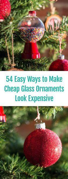 54 Easy Ways to DIY Glass Ornaments! Creative Christmas Tree Decor Ideas, Handmade Christmas Decor, Handmade Holiday Decor, DIY Holiday Decorations, Affordable Holiday Decor, Creative Ornament Ideas