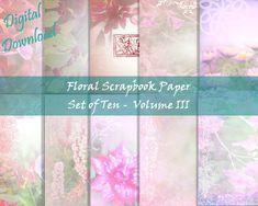 Printable Scrapbook Paper, Printable Paper, Floral Printables, Stationery Paper, Writing Paper, Book Of Shadows, Your Image, Red And Pink, Digital