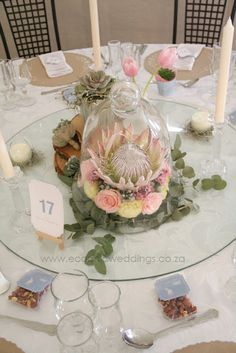 Image result for protea blomme Protea Centerpiece, Wedding Centerpieces, Wedding Decorations, Table Decorations, Protea Wedding, Wedding Flowers, Table Arrangements, Floral Arrangements, Protea Bouquet