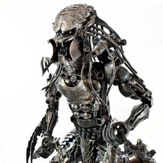 metal sculptors | Metal Art Alien, Warrior Metal Art Figurine 2ft, Scrap Metal Sculpture ...