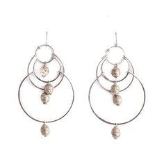 Silver Mala Chandelier Earrings | Pigment - http://www.shoppigment.com/products/silver-mala-chandelier-earrings