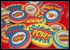 Wonder Woman Party | Sugar Cookies edible transfer paper POWS!