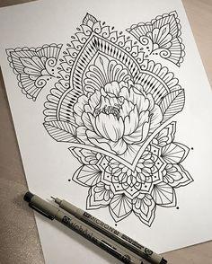 Studio Sunday. #tattoo #tattoodesign #tattooart #art #design #drawing #sketch #penandink #handdrawn #custom #mehndi #mehndiart #mandala #mandalaart #paisley #lineart #iblackwork #instaart #domholmestattoo #theblacklotusstudio