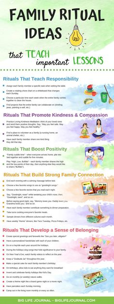 41 Family Rituals That Teach Responsibility, Positivity, Kindness – Big Life Journal