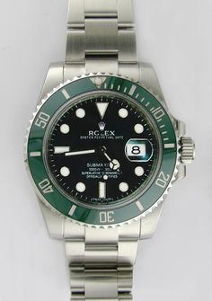 #Rolex #Submariner 116610LV - With black dial and green ceramic bezel #swisswatchdealers