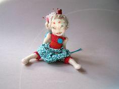 needle felted pixie doll by FELTOOHLALA