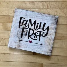 Excited to share this item from my shop: Family Sign Selling Handmade Items, Handmade Home, Handmade Crafts, Painted Wood Signs, Wooden Signs, Hand Painted, Distressing Painted Wood, Scented Tea Lights, Distressed Signs