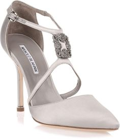 87253198d88d Manolo Blahnik Seneca 105 satin silver pump Stilettos