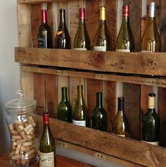 Barn Loft-pallet wine holder