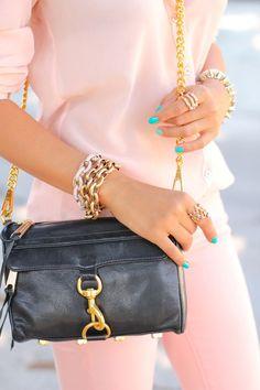 mini leather sling