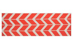 "2'6""x8' Haven Flat-Weave Runner, Poppy on OneKingsLane.com"