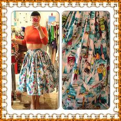 #pinupgirlclothing  Paris swing. 2 left 1 med and 1 large! #frenchie #swing
