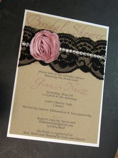 Beautiful Bridal Shower invite. Could even make an adorable baby shower invite.