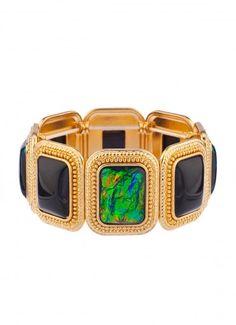 Arya Opal Bracelet Black/Green