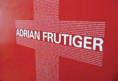 Adrian Frutiger Poster