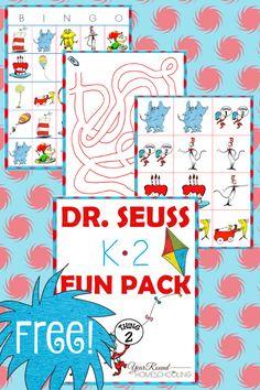 seuss kindergarten first grade second grade homeschool homeschooling printable Dr Seuss Activities, Holiday Activities, Kindergarten Activities, Book Activities, Sequencing Activities, Kindergarten Classroom, Preschool Ideas, Teaching Ideas, Craft Ideas