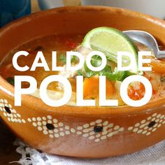 de Pollo (Homemade Chicken Soup) Caldo de pollo is medicine for the soul. Its one of my favorite soups and so simple to make. It freezes well, which comes in very handy when you are not feeling well, and need comforting. Homemade Chicken Soup, Chicken Soup Recipes, Beef Recipes, Cooking Recipes, Healthy Recipes, Easy Chicken Caldo Recipe, Mexican Chicken Soups, Mexican Meatball Soup, Healthy Soup