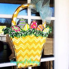 Easter HOP Wood Cut Out Door Hanger by TheWaywardWhimsy on Etsy