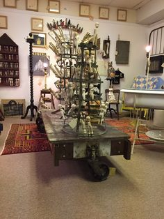 View of Assemblages at The Mission Road Antique Mall  booth 214