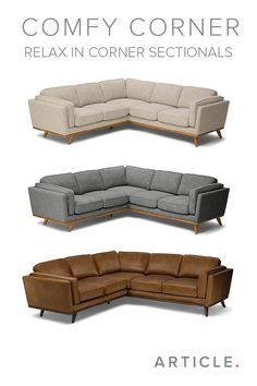 Fill your living room with a Timber corner sectional. Available in three fabrics and colors.