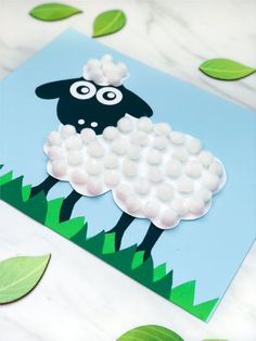 Easy easter crafts for kids. make this sweet pom pom sheep craft at home, in the classroom or in sunday school. Farm Animal Crafts, Sheep Crafts, Farm Crafts, Animal Crafts For Kids, Spring Crafts For Kids, Crafts For Kids To Make, Preschool Crafts, Preschool Kindergarten, Easy Art For Kids