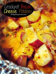 Crockpot Bacon Cheese Potatoes I'm making this for the family reunion !!!