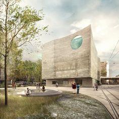 Oceanium Basel, Boltshauseer Architekten. *1st Prize* Visualization nightnurse images.
