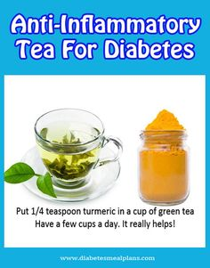 Anti-Inflammatory Turmeric tea for diabetes