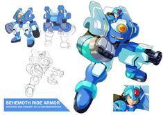 Megaman X9- Behemoth Ride Armor by ultimatemaverickx on DeviantArt