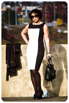 Review: Vogue 1329 | Black & White Colorblocking | Erica B.'s - D.I.Y. Style!