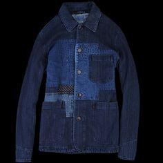 UNIONMADE - BLUE BLUE JAPAN - Sashiko Fabric Coverall Jacket in Indigo