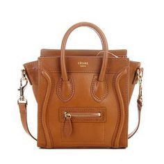 celine luggage bags leather orange