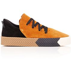 ALEXANDER WANG x adidas Originals Men's Skate Sneakers (1,240 CNY) ❤ liked on Polyvore featuring shoes, sneakers, nude, nude platform shoes, platform shoes, rubber sole shoes, low top and lace up sneakers