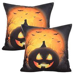 1 New Standard Size 100/% Cotton Handmade Pillowcase Halloween Cats /& Pumpkins