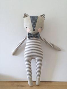 luckyjuju kitty boy cat lovie doll by luckyjuju on Etsy