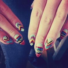 Pointy nails are scary, but I like the print!