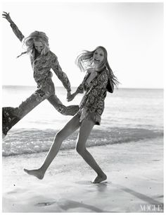 Patti Hansen & Daughter, photographed by Bruce Weber