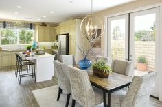 Residence Two - Dining and Kitchen Palmilla by Melia Homes #MeliaHomes #CostaMesa #NewHome