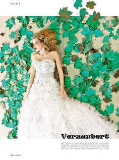 Justin Alexander Style 8567 was featured in Hochzeit, das Magazin für Brautpaare in Issue 2 - March/ April 2012.    www.justinalexanderbridal.com
