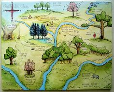 100 Acre Wood Lady Poppins: Winnie the Pooh Map Winne The Pooh, Winnie The Pooh Quotes, Winnie The Pooh Friends, Eeyore, Tigger, 100 Acre Wood, Hundred Acre Woods, Fantasy Map, Pooh Bear