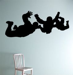 Sky Divers Skydiving Vinyl Wall Decal Sticker Art Decor Bedroom Design Mural