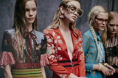 Looks from Gucci's spring-summer 2016 ready-to-wear collection.