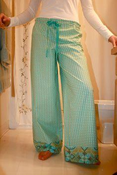 Wide-leg pants - front view