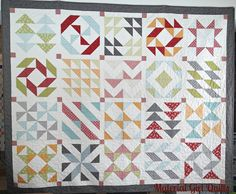 Layer Cake Sampler quilt by Material Girl Quilts using #Flats @ModaFabrics collection and #aurifil threads by Angela Yosten