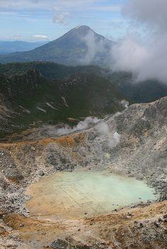 On top of Sibayak volcano, Sumatra, Indonesia
