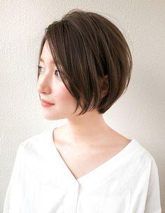 ナチュラルなひし形小顔ショート(SH−22)   ヘアカタログ・髪型・ヘアスタイル AFLOAT(アフロート)表参道・銀座・名古屋の美容室・美容院