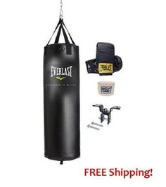 Heavy Bag Boxing Punching 70 Lb Training Gloves Speed Kit Kicking MMA Workout