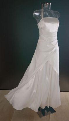 Bruidsjurk in satijn en taft 0071